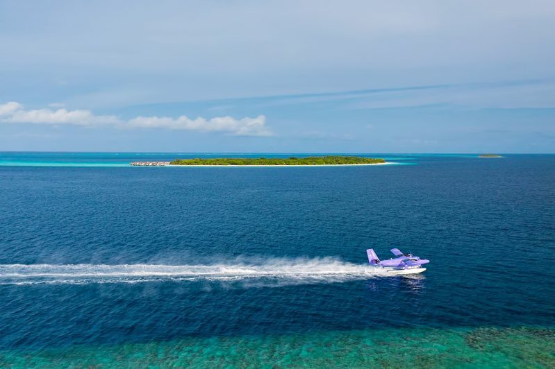 The Nautilus Maldives Luxury Resort - Thiladhoo Island, Maldives - Seaplane Landing