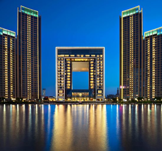 The St. Regis Tianjin Luxury Hotel - Tianjin, China - Night River View