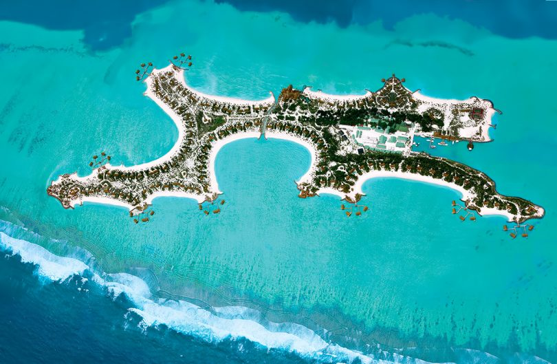 One&Only Reethi Rah Luxury Resort - North Male Atoll, Maldives - Resort Overhead Aerial