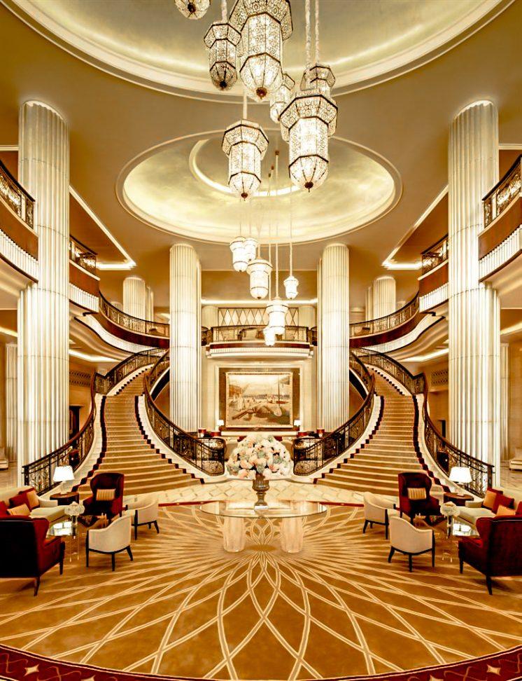 The St. Regis Abu Dhabi Luxury Hotel - Abu Dhabi, United Arab Emirates - Grand Lobby Staircase