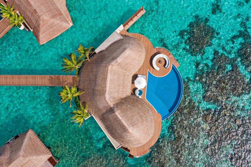 W Maldives Luxury Resort - Fesdu Island, Maldives - Overwater Bungalow Aerial View