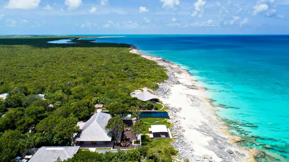 Amanyara Luxury Resort - Providenciales, Turks and Caicos Islands - Artist Ocean Villa Aerial