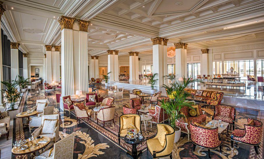 Palazzo Versace Dubai Hotel - Jaddaf Waterfront, Dubai, UAE - Mosaico Restaurant Lobby Lounge