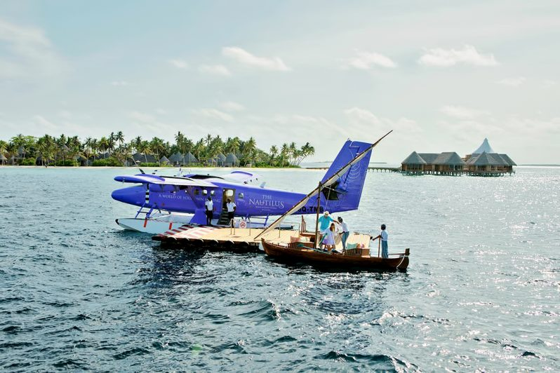The Nautilus Maldives Luxury Resort - Thiladhoo Island, Maldives - Seaplane Arrival
