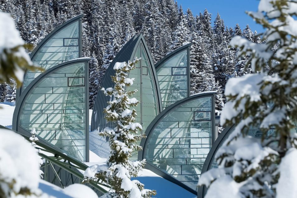 Tschuggen Grand Luxury Hotel - Arosa, Switzerland - Winter Glass Sails