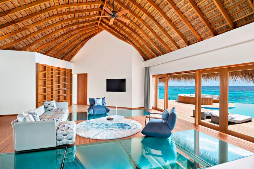 W Maldives Luxury Resort - Fesdu Island, Maldives - Extreme WOW Ocean Haven Living Room