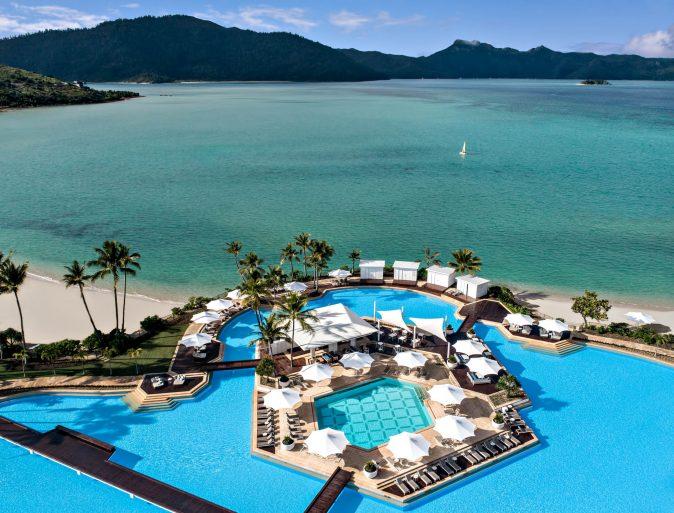 InterContinental Hayman Island Resort - Whitsunday Islands, Australia - Aerial Pool Ocean View