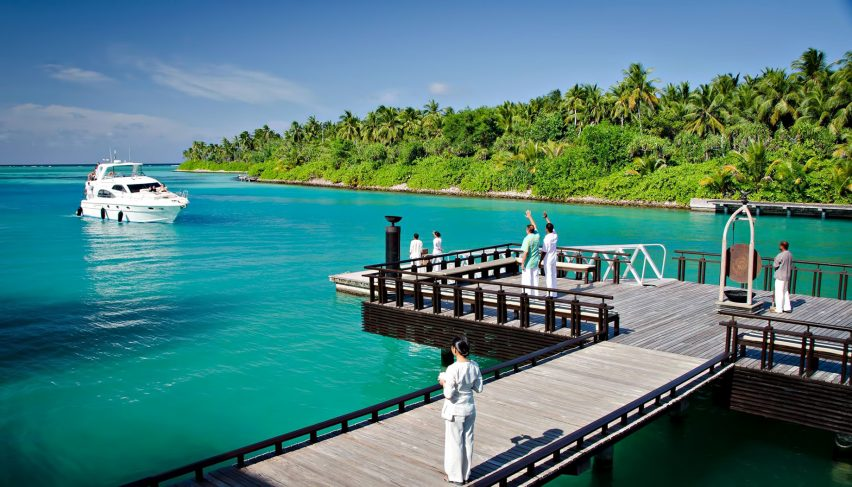 One&Only Reethi Rah Luxury Resort - North Male Atoll, Maldives - Boat Arrival Dock