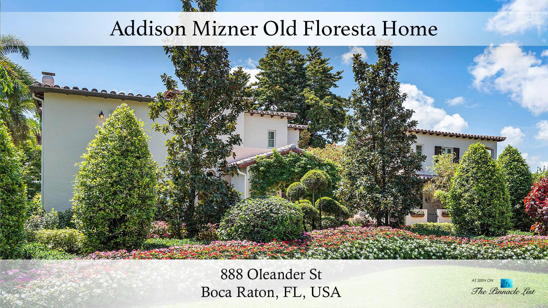 Addison Mizner Old Floresta Home – 888 Oleander St, Boca Raton, FL, USA