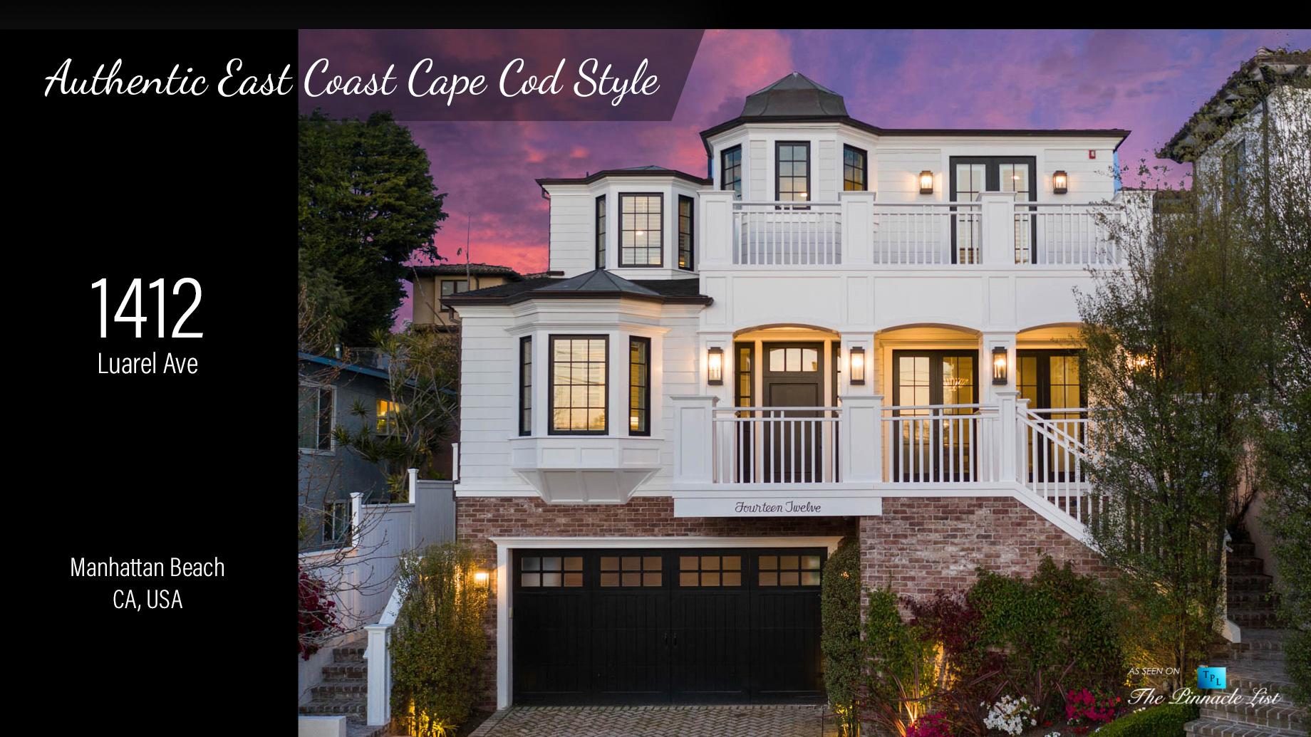 Authentic East Coast Cape Cod Style - 1412 Laurel Ave, Manhattan Beach, CA, USA