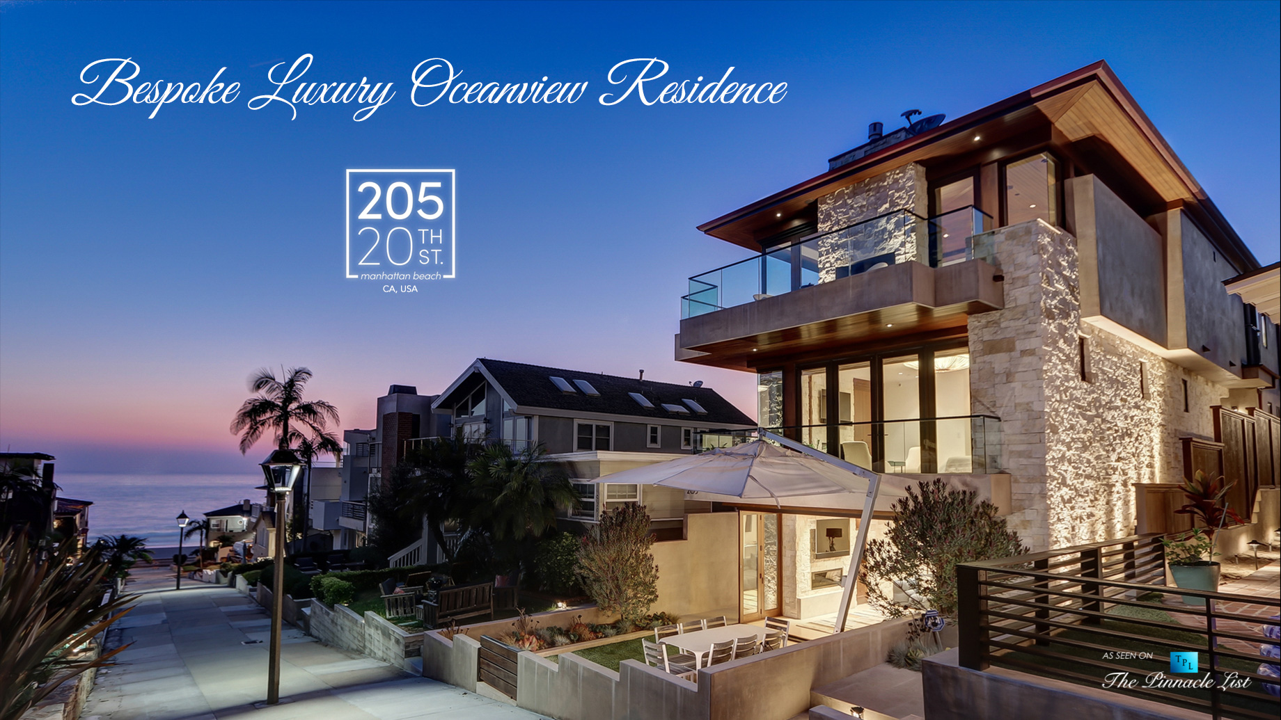 Bespoke Luxury Oceanview Residence - 205 20th St, Manhattan Beach, CA, USA