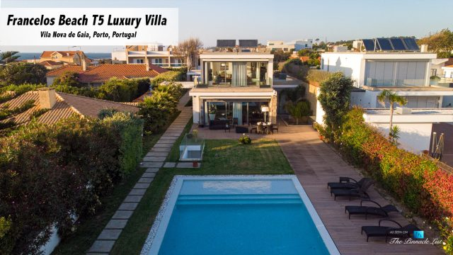 Francelos Beach T5 Luxury Villa - Vila Nova de Gaia, Porto, Portugal - Backyard Pool