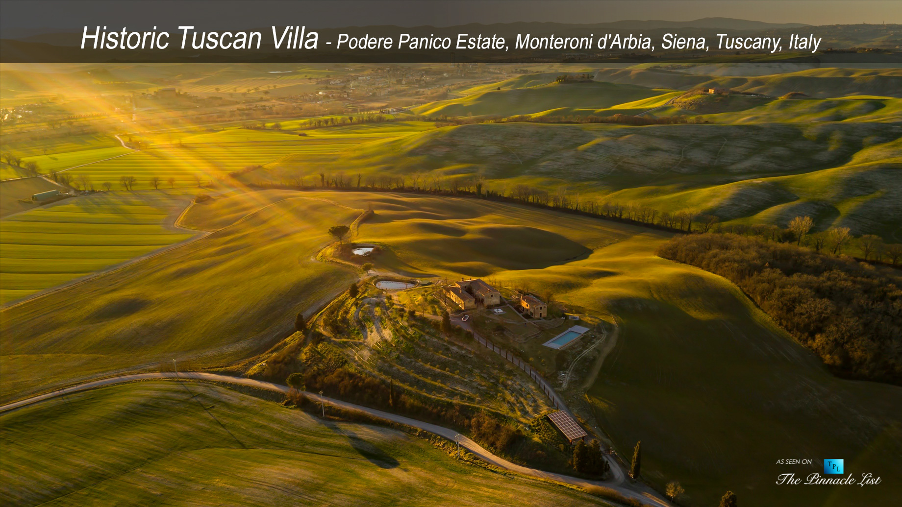 Historic Tuscan Villa - Podere Panico Estate, Monteroni d'Arbia, Siena, Tuscany, Italy