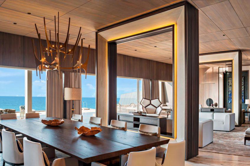 The St. Regis Maldives Vommuli Luxury Resort - Dhaalu Atoll, Maldives - John Jacob Astor Estate Dining Area