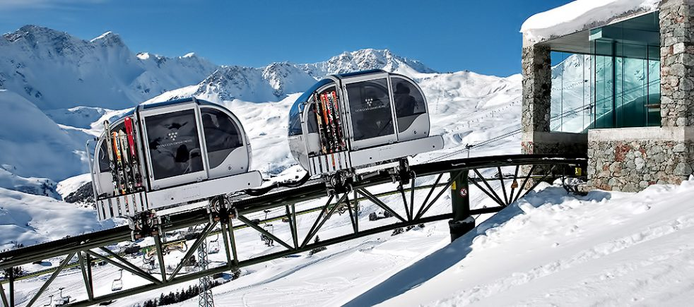 Tschuggen Grand Luxury Hotel - Arosa, Switzerland - Sky Tram Station