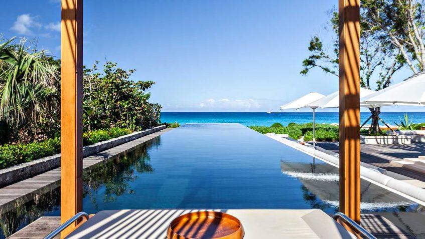 Amanyara Luxury Resort - Providenciales, Turks and Caicos Islands - Artist Ocean Villa Infinity Pool Deck View