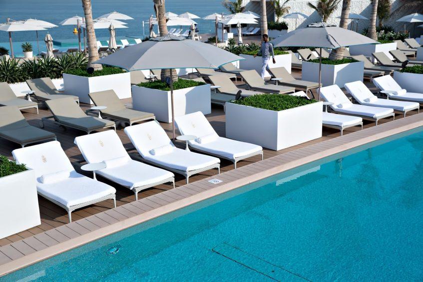 Burj Al Arab Luxury Hotel - Jumeirah St, Dubai, UAE - Burj Al Arab Terrace Poolside Lounge Chairs