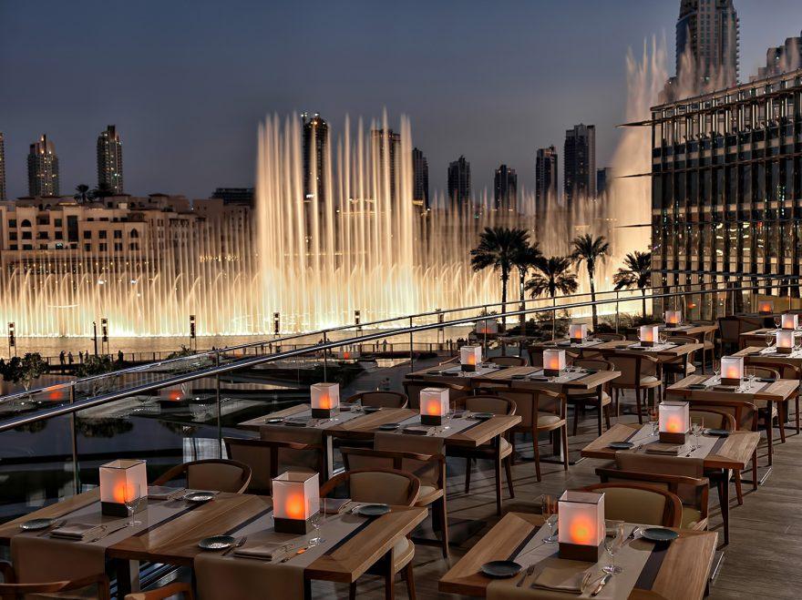Armani Hotel Dubai - Burj Khalifa, Dubai, UAE - Fountain View Dining Patio