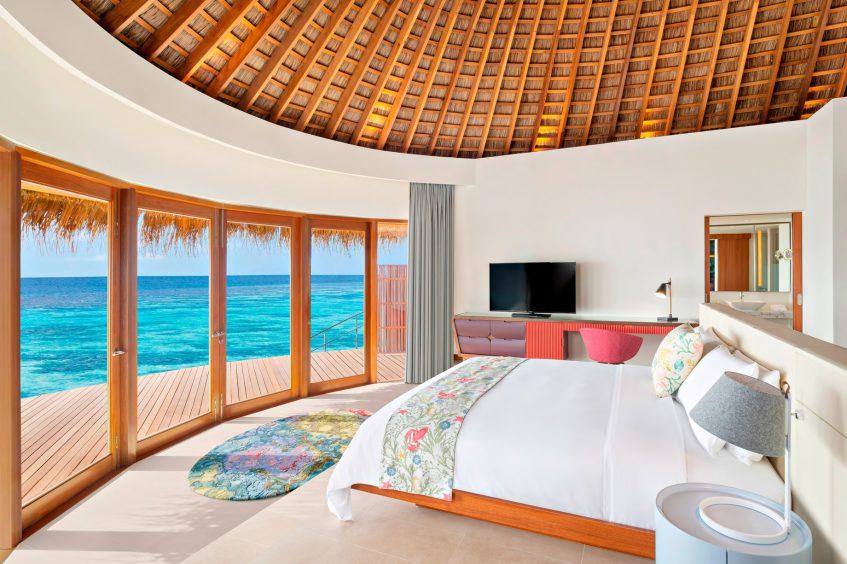 W Maldives Luxury Resort - Fesdu Island, Maldives - Overwater Bungalow Master Bedroom