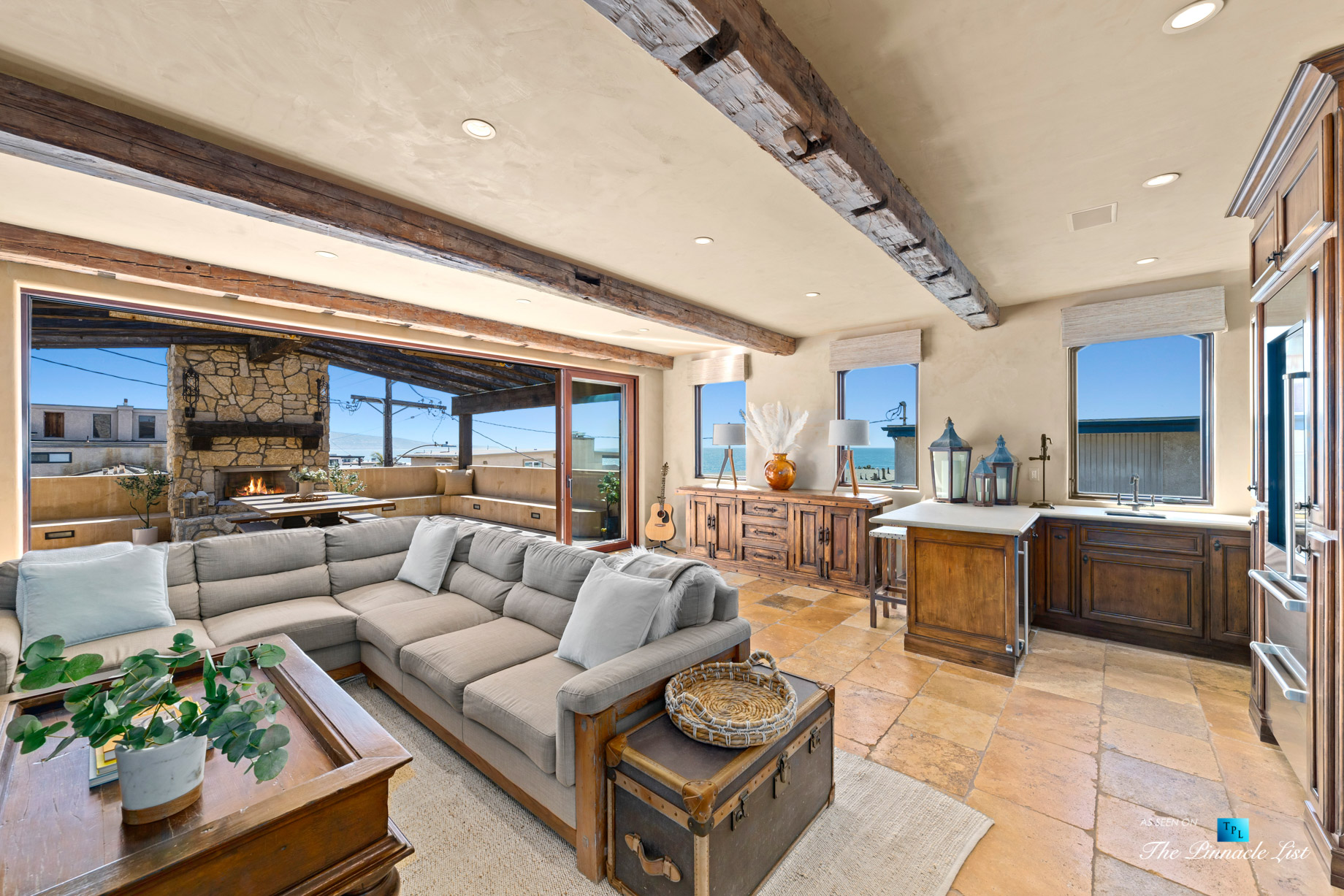 a216 7th St, Manhattan Beach, CA, USA – Luxury Real Estate – Coastal Villa Home – Living Room Oceanview