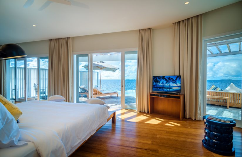 Amilla Fushi Luxury Resort and Residences - Baa Atoll, Maldives - Reef Water Villa Bedroom View