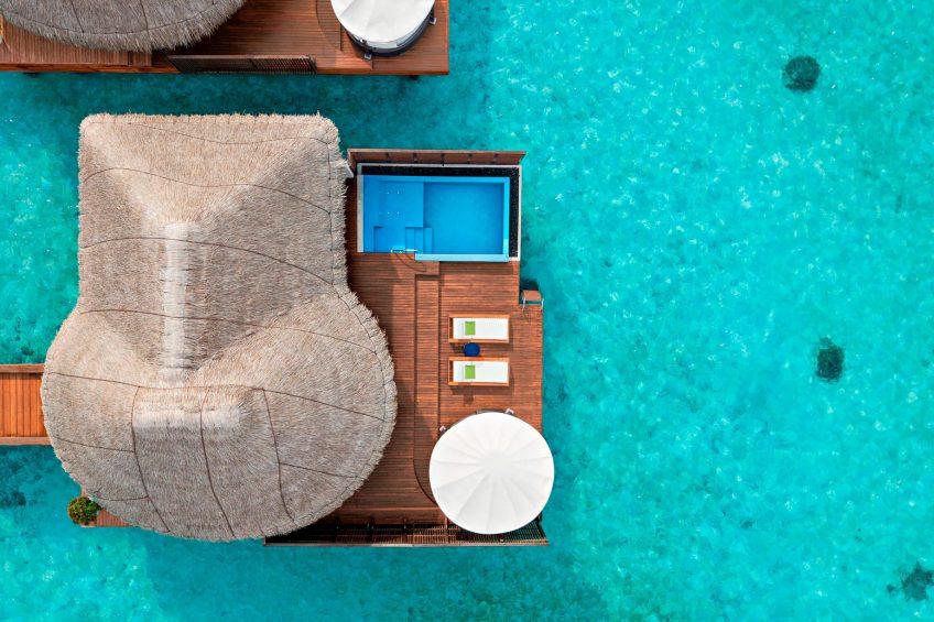 W Maldives Luxury Resort - Fesdu Island, Maldives - Fabulous Overwater Oasis Bungalow Overhead View