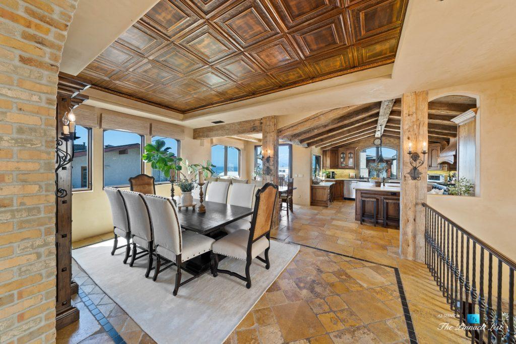 Authentic Luxury Coastal Villa - 216 7th St, Manhattan Beach, CA, USA - Dining Room and Kitchen