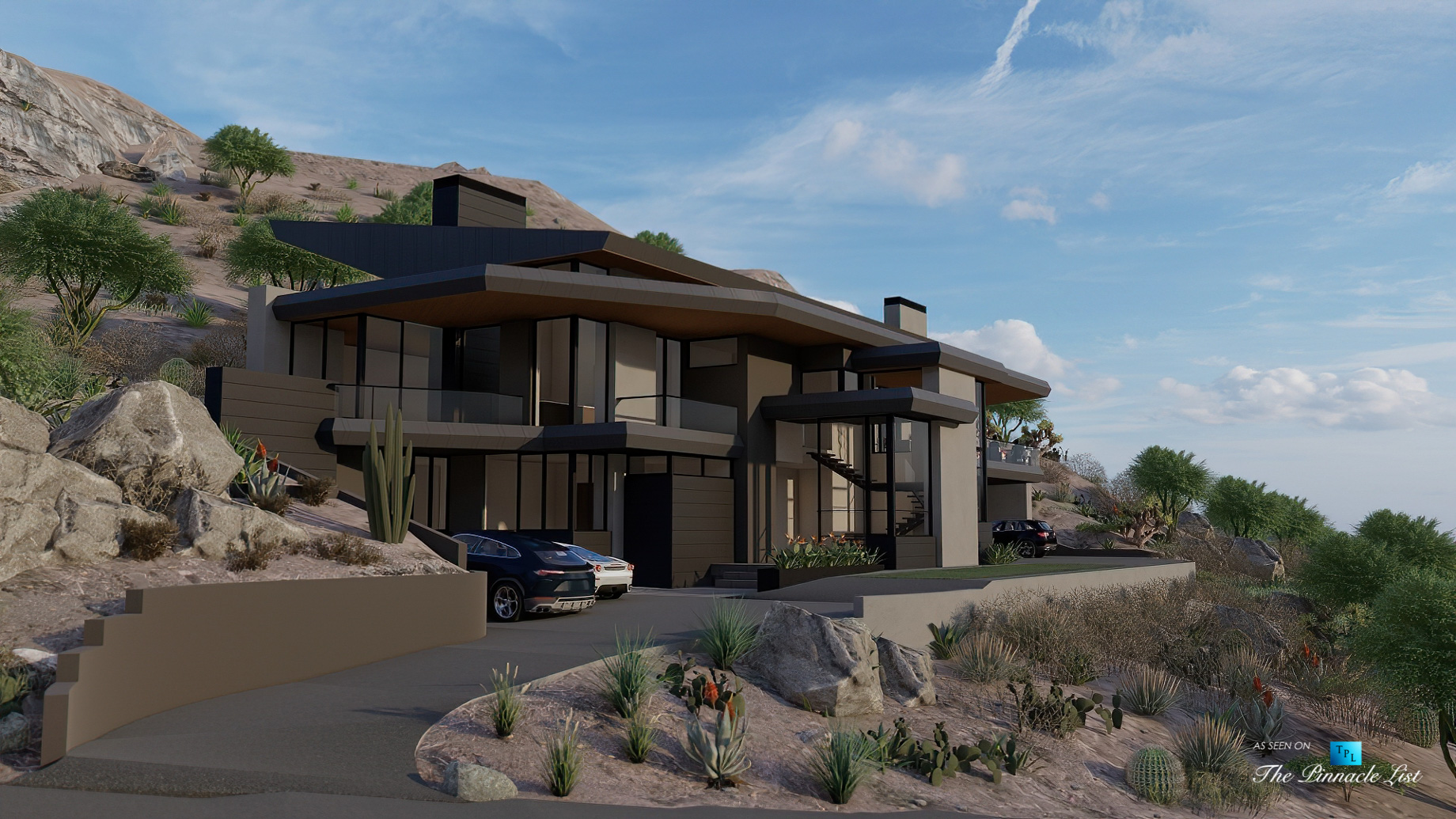 Mummy Mountain Luxury Residence – 5221 E Cheney Dr, Paradise Valley, AZ, USA – Driveway