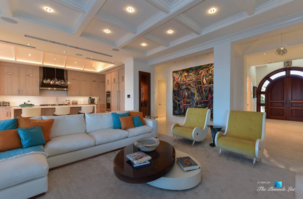 Ocean Reef Club Luxury Estate - 103 Andros Rd, Key Largo, FL, USA - Living Room