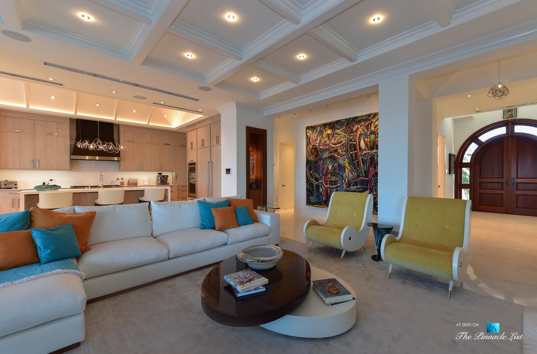 Ocean Reef Club Luxury Estate – 103 Andros Rd, Key Largo, FL, USA – Living Room