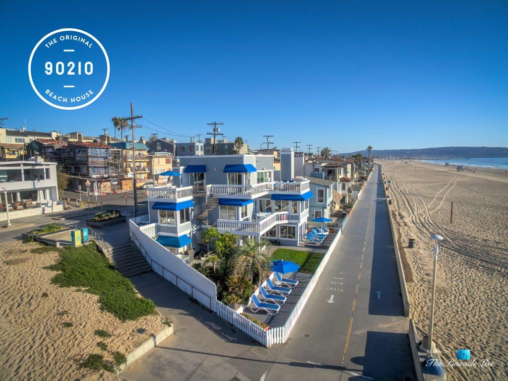 The Original 90210 Beach House - 3500 The Strand, Hermosa Beach, CA, USA - The Strand Aerial View