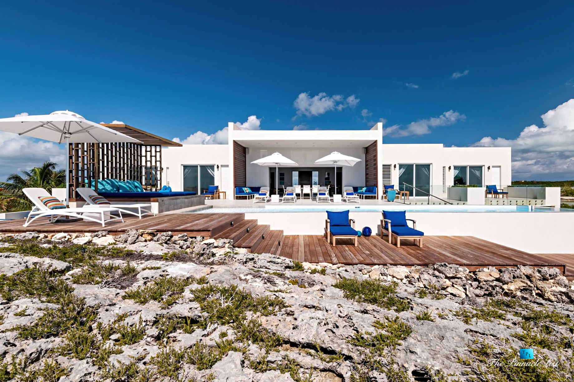 Tip of the Tail Luxury Villa – Providenciales, Turks and Caicos Islands – Exterior Front View