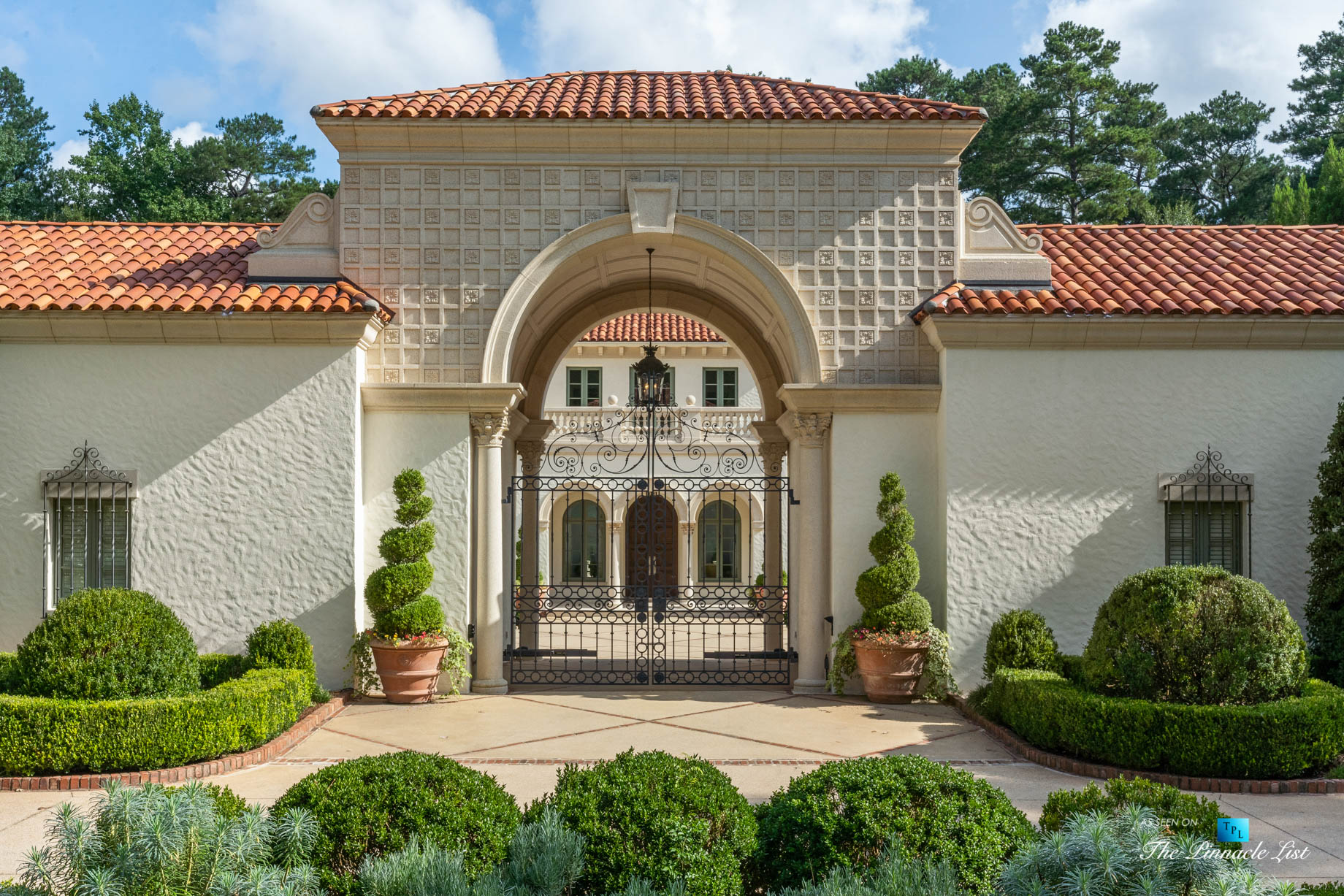 Tuxedo Park Mediterranean Estate - 439 Blackland Rd NW, Atlanta, GA, USA - Front Gate