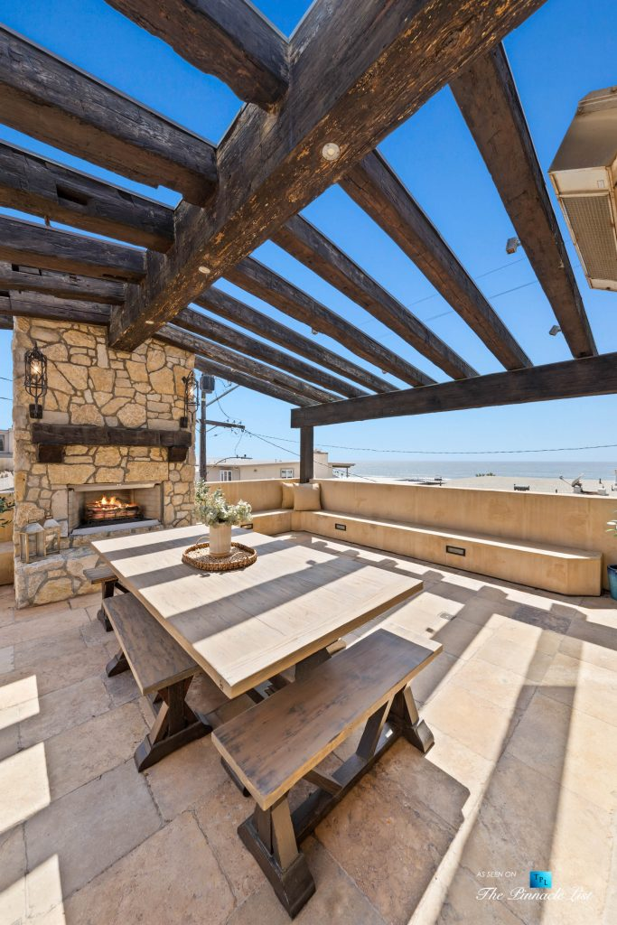 216 7th St, Manhattan Beach, CA, USA - Luxury Real Estate - Coastal Villa Home - Outdoor Balcony Dining Table