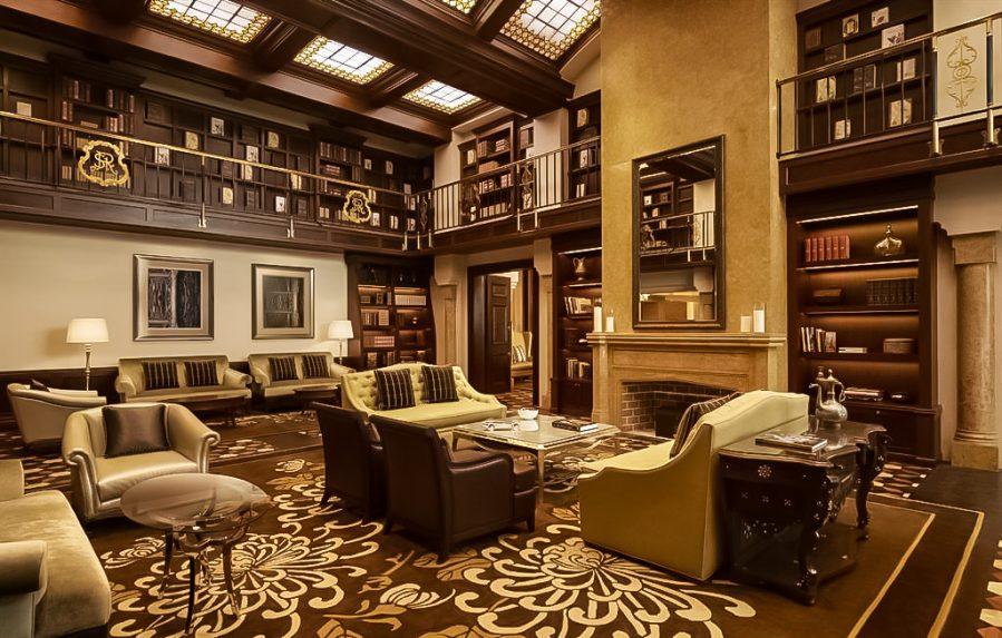 The St. Regis Abu Dhabi Luxury Hotel - Abu Dhabi, United Arab Emirates - St. Regis Bar Library