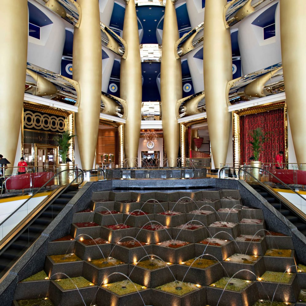 Burj Al Arab Luxury Hotel - Jumeirah St, Dubai, UAE - Lobby Gallery