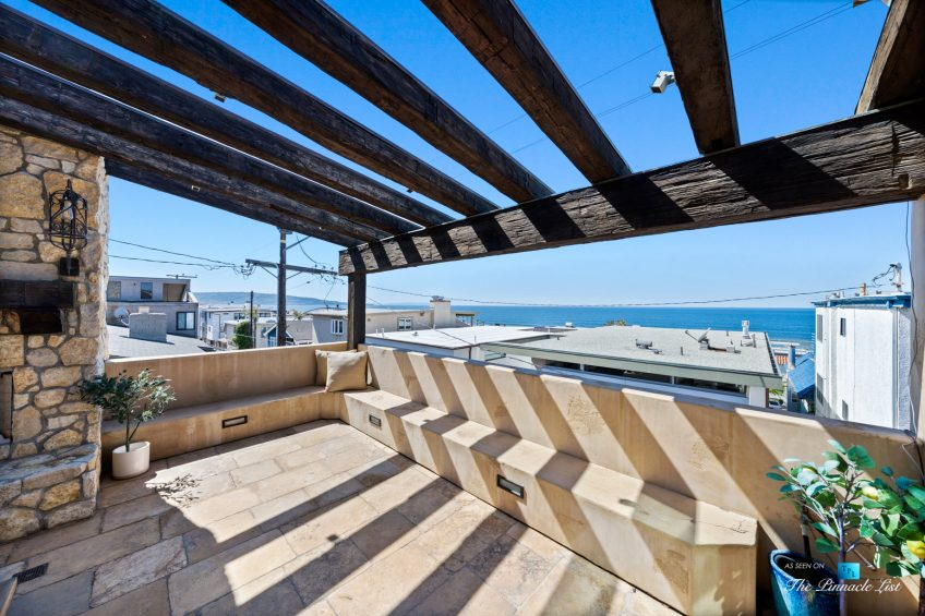 216 7th St, Manhattan Beach, CA, USA - Luxury Real Estate - Coastal Villa Home - Outdoor Balcony Seating