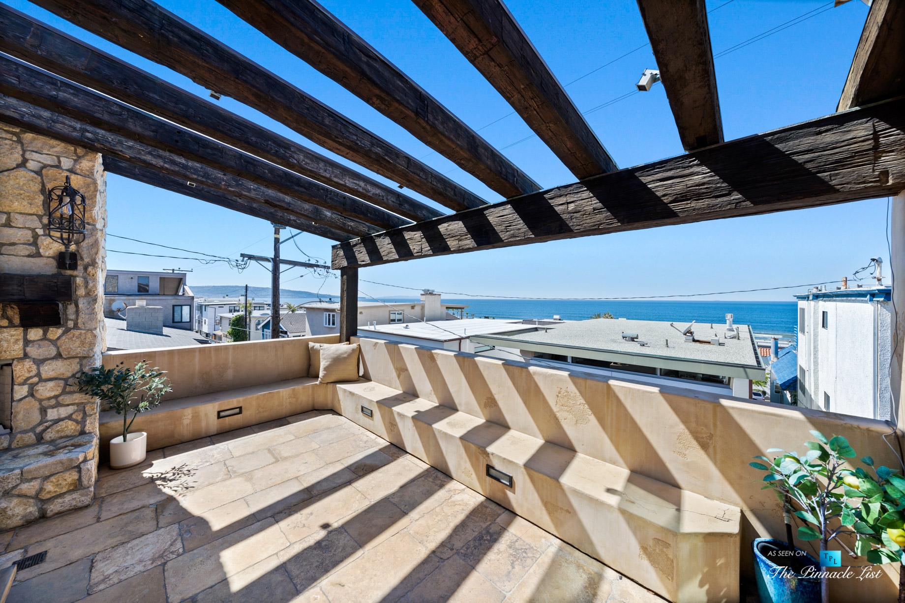 216 7th St, Manhattan Beach, CA, USA – Luxury Real Estate – Coastal Villa Home – Outdoor Balcony Seating