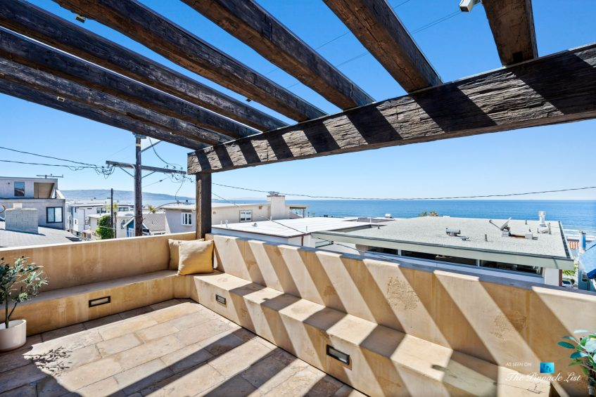216 7th St, Manhattan Beach, CA, USA - Luxury Real Estate - Coastal Villa Home - Outdoor Balcony Oceanview Seating