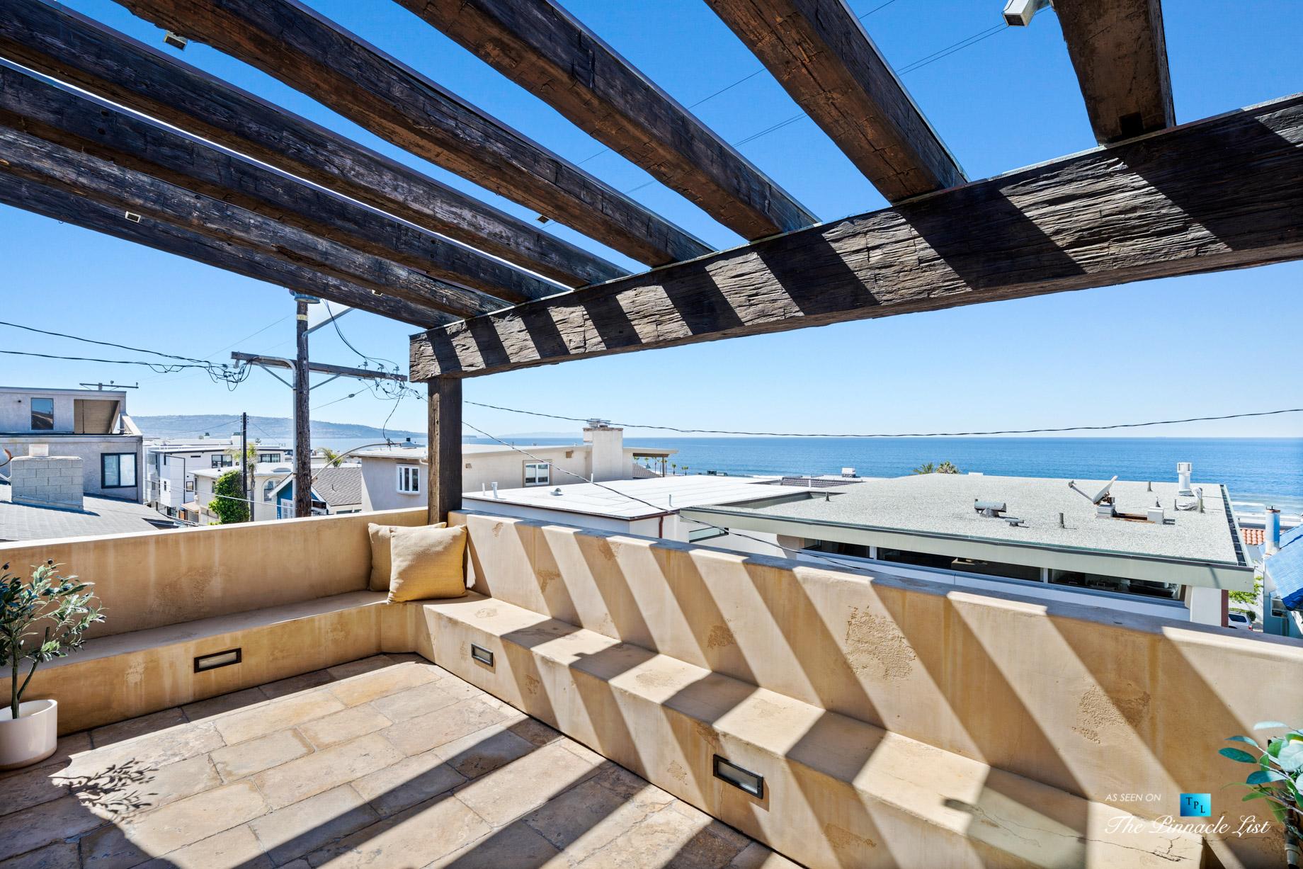 216 7th St, Manhattan Beach, CA, USA – Luxury Real Estate – Coastal Villa Home – Outdoor Balcony Oceanview Seating