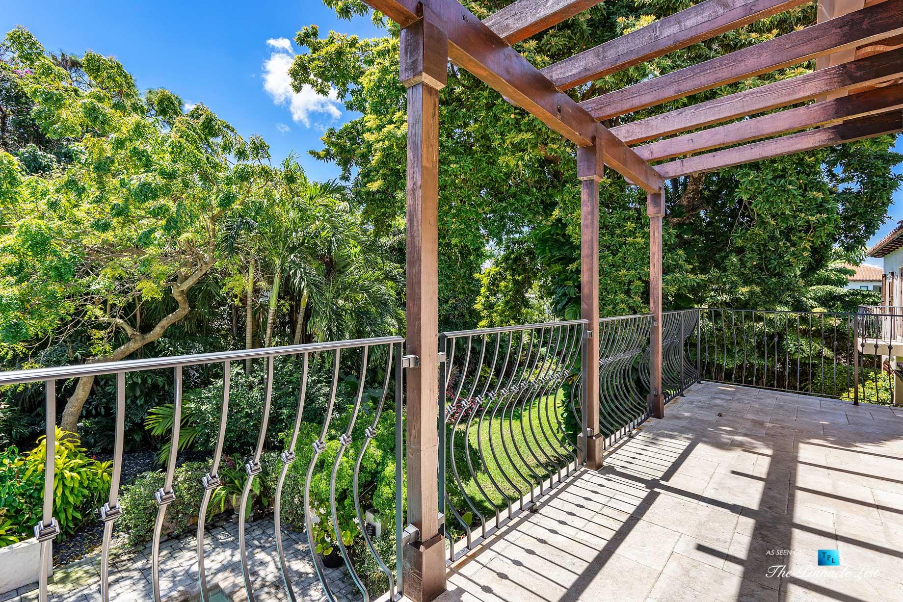 888 Oleander St, Boca Raton, FL, USA – Luxury Real Estate – Old Floresta Estate Home – Balcony