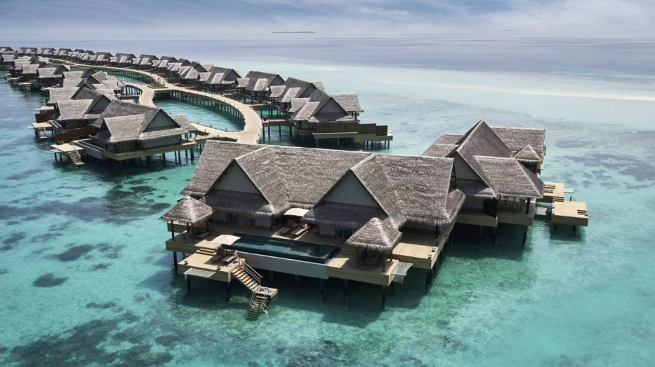 Joali Maldives Luxury Resort - Muravandhoo Island, Maldives - Water Villa Aerial View