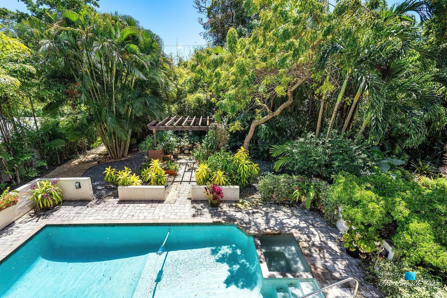 888 Oleander St, Boca Raton, FL, USA - Luxury Real Estate - Old Floresta Estate Home - Balcony Backyard Pool View