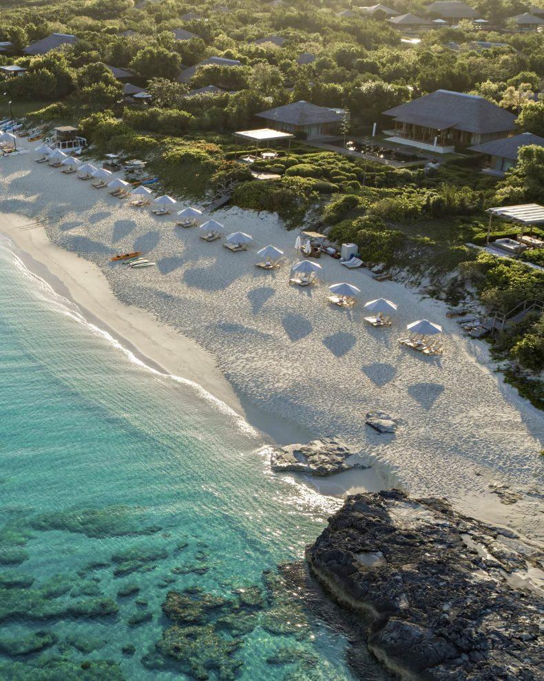 Amanyara Luxury Resort - Providenciales, Turks and Caicos Islands - Private Beach Aerial