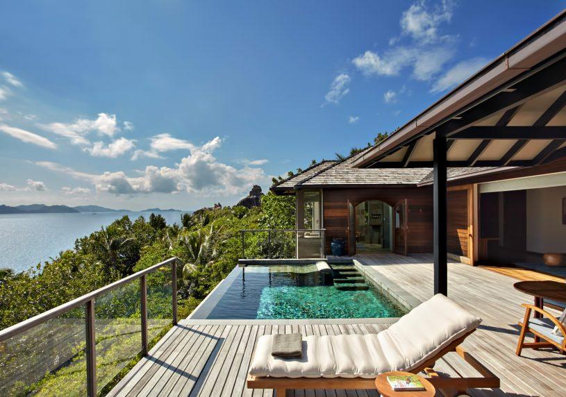 Six Senses Zil Pasyon Luxury Resort - Felicite Island, Seychelles - Panorama Pool Villa Deck