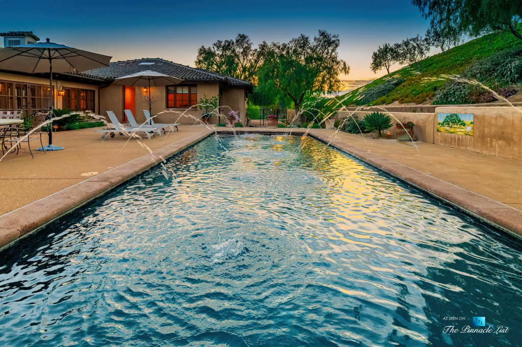 2667 Via De Los Ranchos, Los Olivos, CA, USA - Pool Sunset