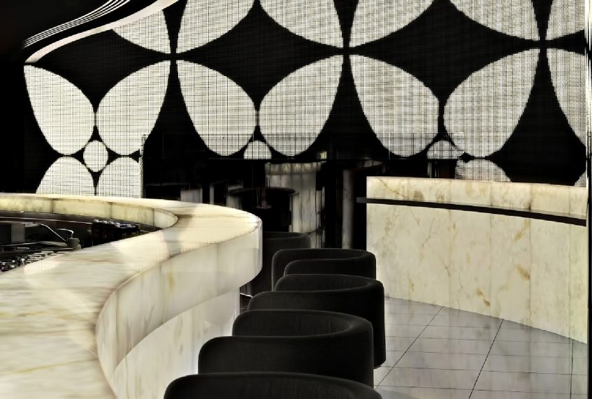 Armani Hotel Dubai - Burj Khalifa, Dubai, UAE - Armani Prive Night Club Bar Seating