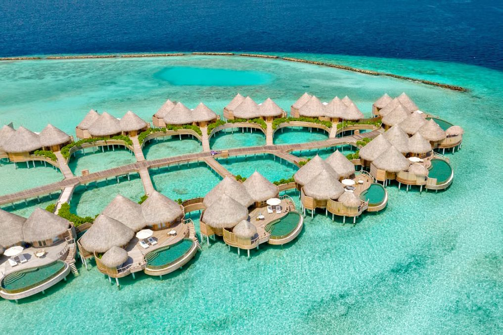 The Nautilus Maldives Luxury Resort - Thiladhoo Island, Maldives - Over Water Ocean Residences Aerial