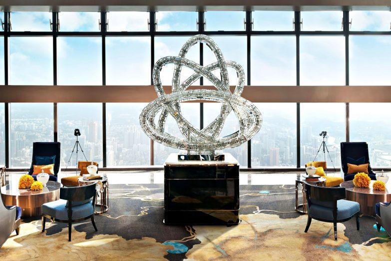 The St. Regis Shenzhen Luxury Hotel - Shenzhen, China - Lobby Artwork