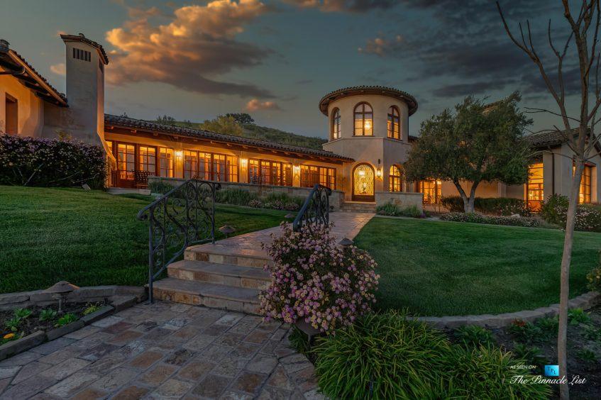 2667 Via De Los Ranchos, Los Olivos, CA, USA - Exterior Front Sunset